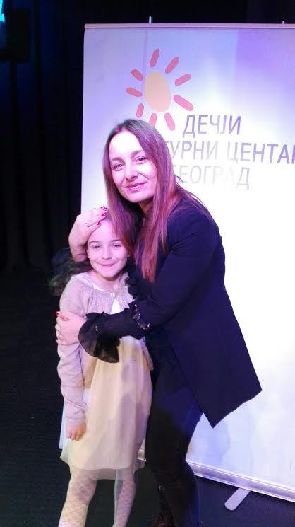 Drina Gruber i nastavnica Kristina Budic